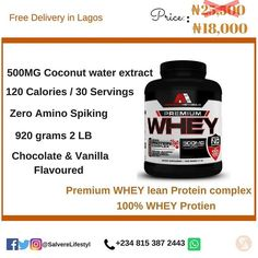 American Metabolix Premium WHEY protein. #Workout #Nighttimeshake #Mealreplacement #100%wheyprotien  100% Whey  No Amino Spiking  Whether you need a post workout shake night time shake or meal replacement shake our Premium Protein is a blended whey protein Concentrate and a perfect fit  The time released effect of the Whey combination allows your body time to retain all the protein. Premium Whey is the perfect complement to meals for example a quick breakfast or lunch and especially for…