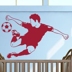 "Style and Apply Soccer Star Wall Decal Size: 21"" H x 31"" W, Color: Dark Red"