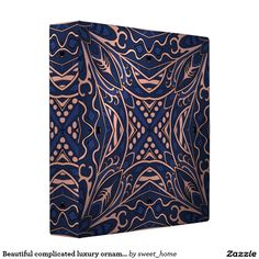 Beautiful complicated luxury ornament. 3 ring binder  Moroccan ornament  make interior unique and add aesthetics sense. Ornament create in oriental tradition. #Home #decor #Room #accessories #Interior #decorating #Idea #Styles #abstract
