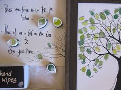 Baby shower guest book tree example