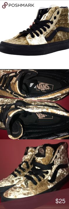 798f2b01b58c1a Shop Women s Vans Gold size 7 Sneakers at a discounted price at Poshmark.