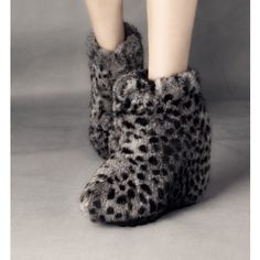 Rabbit Fur Flat Winter Women's Boots
