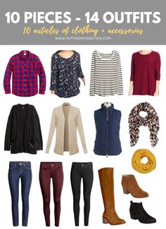 10 Pieces, 14 Outfits: Thanksgiving Packing