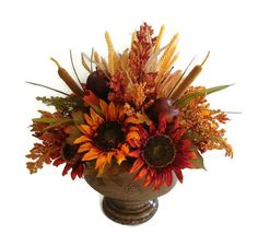 Beautiful Fall Thanksgiving centerpiece.  Available from Perpetualposy on Etsy.