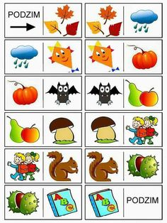 Autumn Activities For Kids, Crafts For Kids, Month Weather, File Folder Activities, School Clubs, Play To Learn, Learning Games, Fall Crafts, Bingo