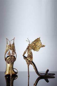 Sergio Rossi's stunning laser-cut leather stilettos