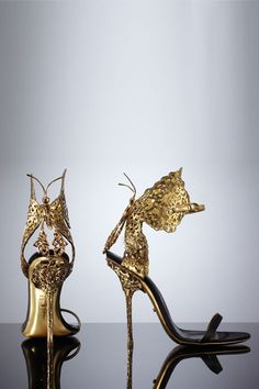 Sergio Rossi's stunning laser-cut leather stilettos