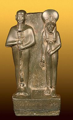 Ptah and Sekhmet     Ancient Egypt. Late Period, XXVIth Dynasty (?). 7th - 6th century BC