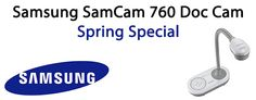 Awesome special for Schools:  Buy 10 Samsung document cameras, get 1 free!