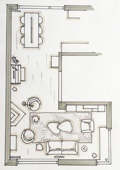 Super Ideas For House Layout Drawing Interior Design Interior Design Classes, Interior Design Sketches, Living Room Floor Plans, Living Room Flooring, Interior Exterior, Home Interior, Room Sketch, L Shaped Living Room Layout, Floor Design