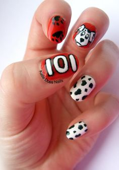 Katie Does Nails: Inspired by - 101 Dalmatians