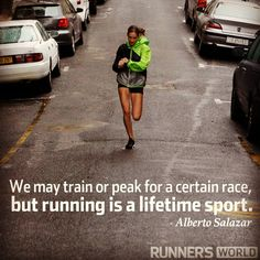 Motivational Running Quote: A Lifetime Of Running