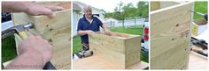 Our Large DIY Planter on wheels {tutorial} - Four Generations One Roof