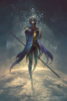 Eistibus, Angel of Divination by PeteMohrbacher | Creatures from Dreams