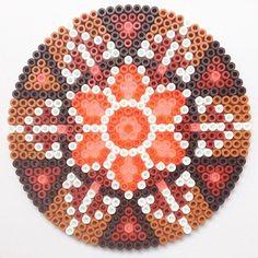 Autumn mandala hama perler beads by coriander_dk