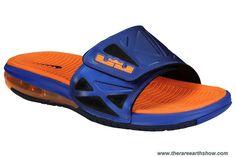 New Nike Air LeBron 2 Slide Elite Superhero 578251 460 Hyper Blue Bright Citrus Blackened Blue