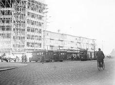 Bouw van de Singelwijck flat hoek Koemarkt en Rotterdamsedijk 1933. Schiedam