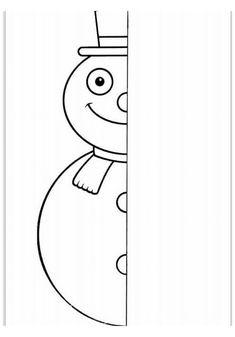 Tipss und Vorlagen: Coloring Pages Preschool worksheets Winter 2019 Christmas Worksheets, Christmas Activities, Winter Activities, Winter Kids, Winter Art, Winter Theme, Symmetry Activities, Symmetry Art, Theme Noel
