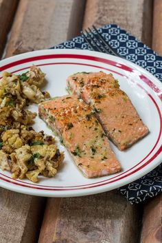 Easy Ginger Salmon - ready for dinner in 10 minutes!