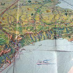Crimea Vintage Map of Crimean Peninsula 1963 Ukraine travel scheme Map tourist places road map Russian vintage paper decoupage Historical