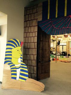 vbs egypt deco Egypt Decorations, School Decorations, Halloween Decorations, Egyptian Crafts, Egyptian Party, Egyptians, Ancient Civilizations, Paper Mache Animals, Trunk Or Treat