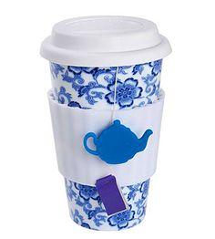 Eco Cup™ - Tea Lovers - Blue flowers