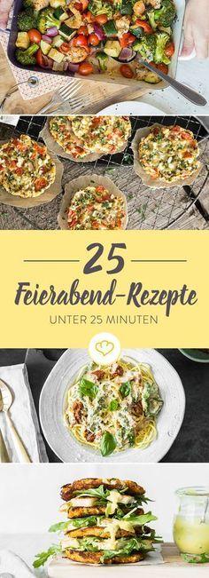 Keine Ahnung, was du heute kochen sollst? Hier ist die Lösung: 25 sündhaft leckere und unkomplizierte Rezepte für deinen entspannten Feierabend.