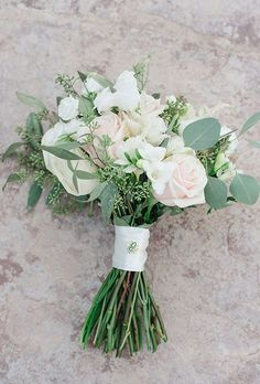 A wedding bouquet wi...