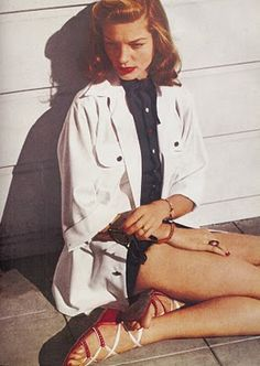 Lauren Bacall - love this look; I think it's modern enough even for today