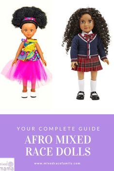 A complete guide to buying black, mixed race dolls with curly hair. Easy To Do Hairstyles, Ethnic Hairstyles, Raising Daughters, Raising Girls, Curly Hair Styles, Natural Hair Styles, Step Parenting, Mixed Race, Welcome To The Family