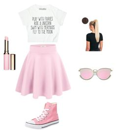 """Super cute summer outfit!!!!"" by mkas06 on Polyvore featuring Converse and Clarins"