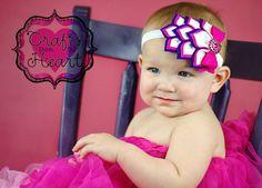 Hot Pink and Purple Felt headband, Layered felt petals, Baby Headband, Toddler, Child, rhinestone, photo prop, teen, girl, accessory, dress