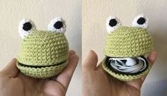 gratis free:Free Pattern: Froggy Pouch This little froggy pouch can hold earbuds coins whatever you like! Continue reading for the free pattern and a tutorial for zipper usage in crochet. Ive been wanting to try something new with amigurumi so I bought a pack of 7-inch black zippers on Amazon the other day.