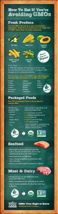 I love this graphic from Whole Foods describing GMOs (genetically modified foods) and how to avoid them in the supermarket. Just because a lot of the produce isn't genetically modified doesn't mean you should buy conventional. Conventional produce still contains harmful pesticides and chemicals. So organic is still best.  Other Posts you may likeHomemade …
