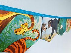THE JUNGLE BOOK Little Golden Book Storybook Banner Garland Baby Shower  Bunting Disney Nursery Decor Storybook