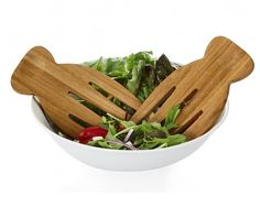 The perfect rustic salad hands to go with your perfect salad! Online Kitchen Store, Beyond The Rack, Outdoor Entertaining, Serveware, Dining, Acacia, Kitchen Ideas, Hands, Rustic