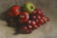 Fruition - by Grimalkin Studio / Kandy Hurley  #StillLife #fruit #artforsale @grimalkinart