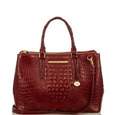 The Brahmin Lincoln Satchel in Carmine Red Melbourne. I have this bag and it is one of my favorite bags! Love it!