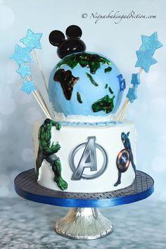 Avengers Globe Cake