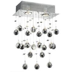 Elegant Lighting Galaxy 2 Light Wall Sconce Crystal Trim: