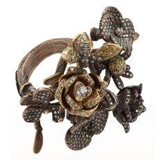 DIAMOND GARDEN THEME RING BY SEVAN BICAKCI