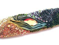 Bracelet shibori, sequins Facebook: Cristallin sutasz i koraliki