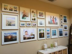 Photowall using Ikea Ribba Frames