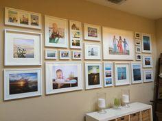 Photowall using Ikea Ribba Frames