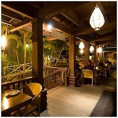 A friend took me out to dinner one night, and knew just where to bring me!! : ) Loved this place. It's a huge beautiful restaurant with open to the outside rooms and outdoor torches and palms/flowers ~ would LOVE to go there again <3