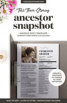 47 Best Ideas For Family History Projects Genealogy Track Genealogy Forms, Genealogy Research, Family Genealogy, Genealogy Sites, Genealogy Chart, Google Docs, Family History Book, Family Tree Book, Family Trees