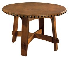 Stickley Furniture - American Made Furniture - Solid Wood Furniture - Knoxville Furniture - Braden's Lifestyles Furniture - Exclusive Knoxville Retailer of Stickley Fine Furniture - Commemorative Table with Leather Top - Craftsman Style Furniture