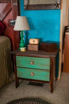 little buckaroo bedroom teal stand