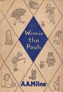 .I have this sweet copy of Winnie the Pooh that was my Mothers when she was young.