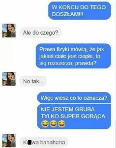 Doszła do tego Funny Sms, Funny Relatable Memes, Wtf Funny, Funny Cute, Polish Memes, Just Smile, Man Humor, Thing 1, Funny Comics